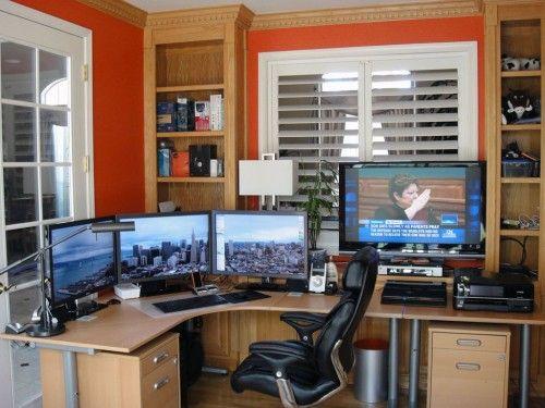 home office computer setup. Sunny Home Office 11 500x375 15 Envious Computer Setups Setup