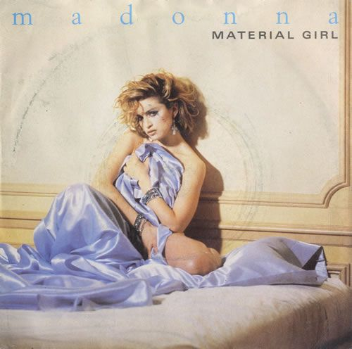 Madonna Material Girl Solid Paper Sleeve Uk 7 Vinyl Single 7