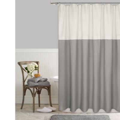 Color Block 54 X 78 Shower Curtain In Grey Gray Shower