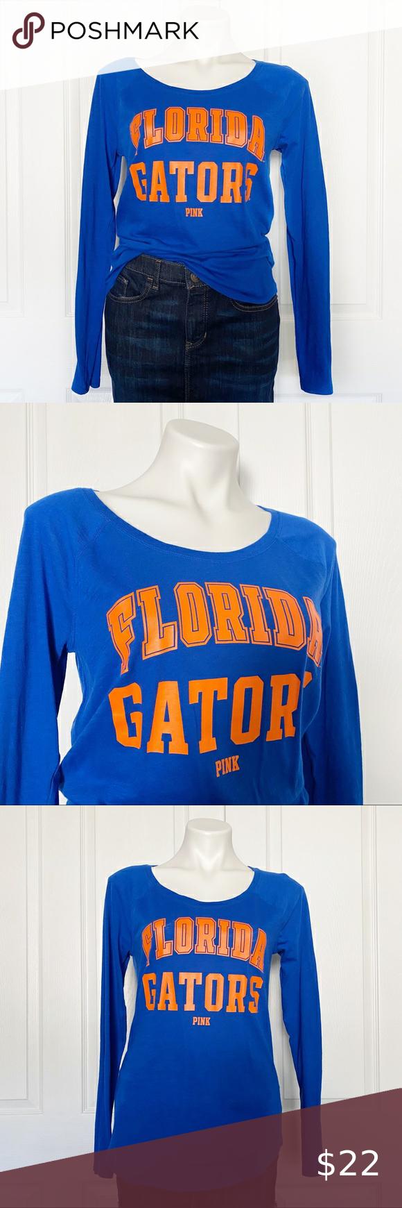 Vs Pink Florida Gators Long Sleeve Scoop Neck Tee Scoop Neck Tee Tops Tees Vs Pink