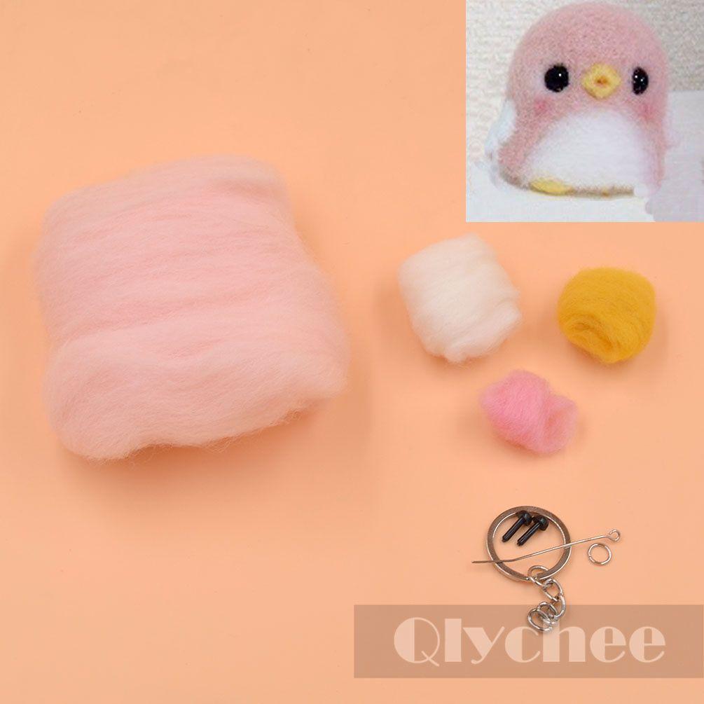 Wool-Felt-Penguin-Key-Chain-Kit-Material-Package-Craft-Needle-Felting-For-DIY