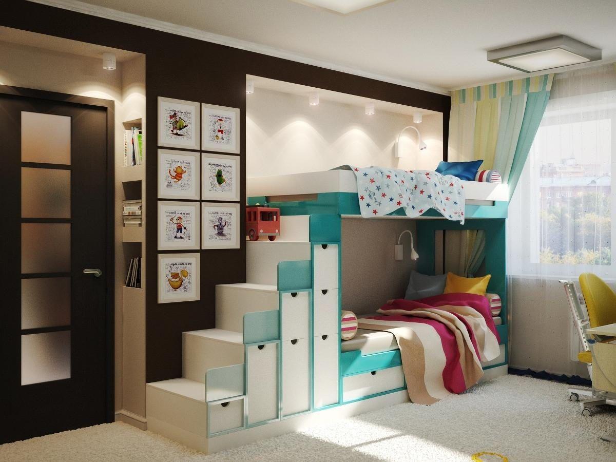 Дизайн детской комнаты для двоих детей 2017 фото новинки ...