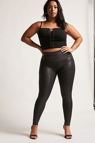 a07df0378ecac Plus Size SPANX Faux Leather Leggings | Products in 2019 | Spanx ...