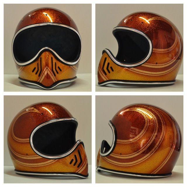 Chemical Candy Customs Refurbished Helmets Vintage Helmet Retro Motorcycle Helmets Custom Helmet Paint