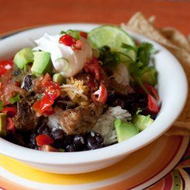 Pork Carnitas Burrito Bowls quick to make in the Pressure Cooker