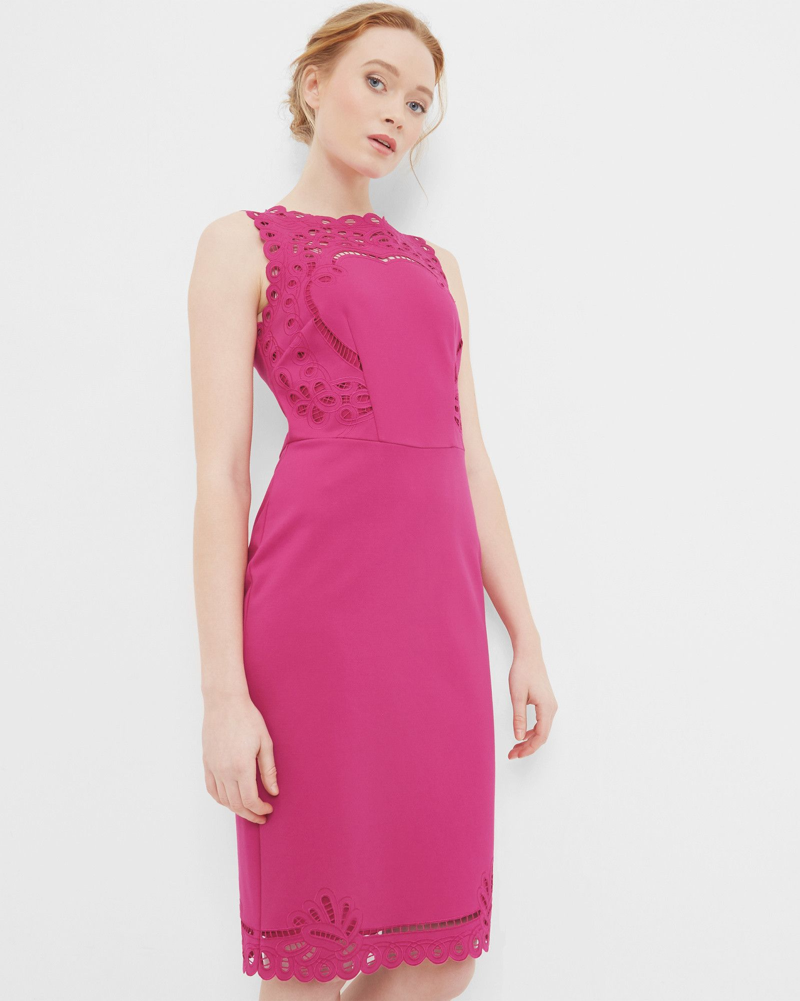 Cut-work bodycon dress - Fuchsia   Dresses   Ted Baker   Actrices ...