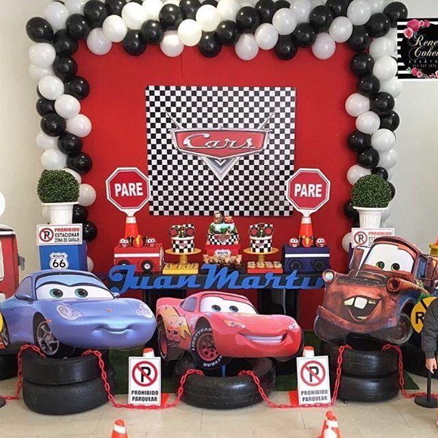20 Ideas para cumpleaños espectaculares Cars, Fiestas and Birthdays