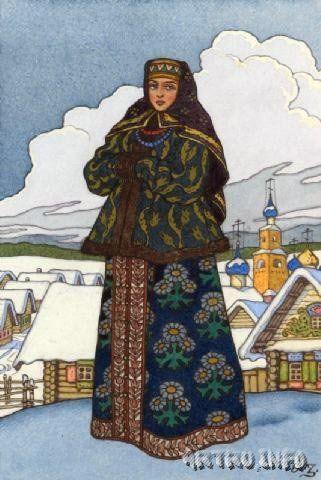 Девушка в русском костюме. Зворыкин Б.В. | Русское ...