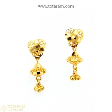 Indian Gold Earrings For Babies