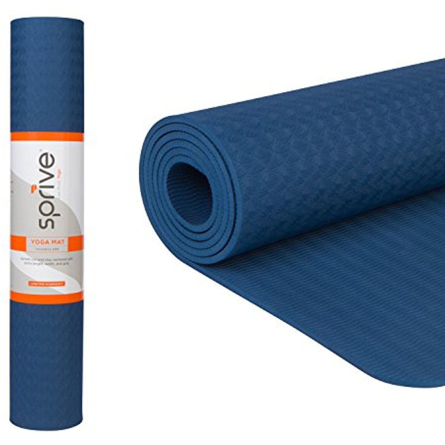 Sprive Tpe Yoga Mat 6mm For Yoga Pilates Burpee Core Exercises Health Fitness Interval Training Eco Friendly Dura Interval Training Core Workout Yoga