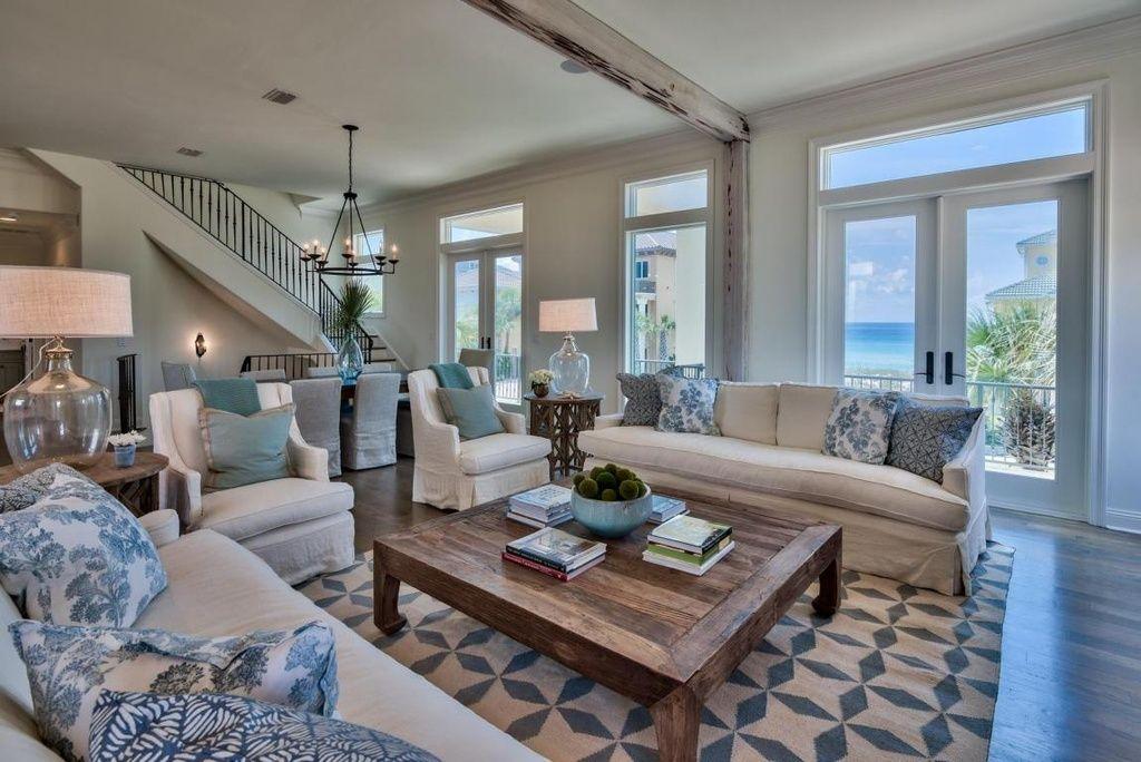 Traditional Living Room with Ballard Design Larkin ...