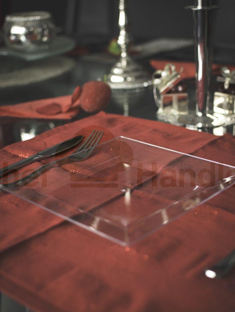 Our elegant square plastic plates are designed to impress even the ...