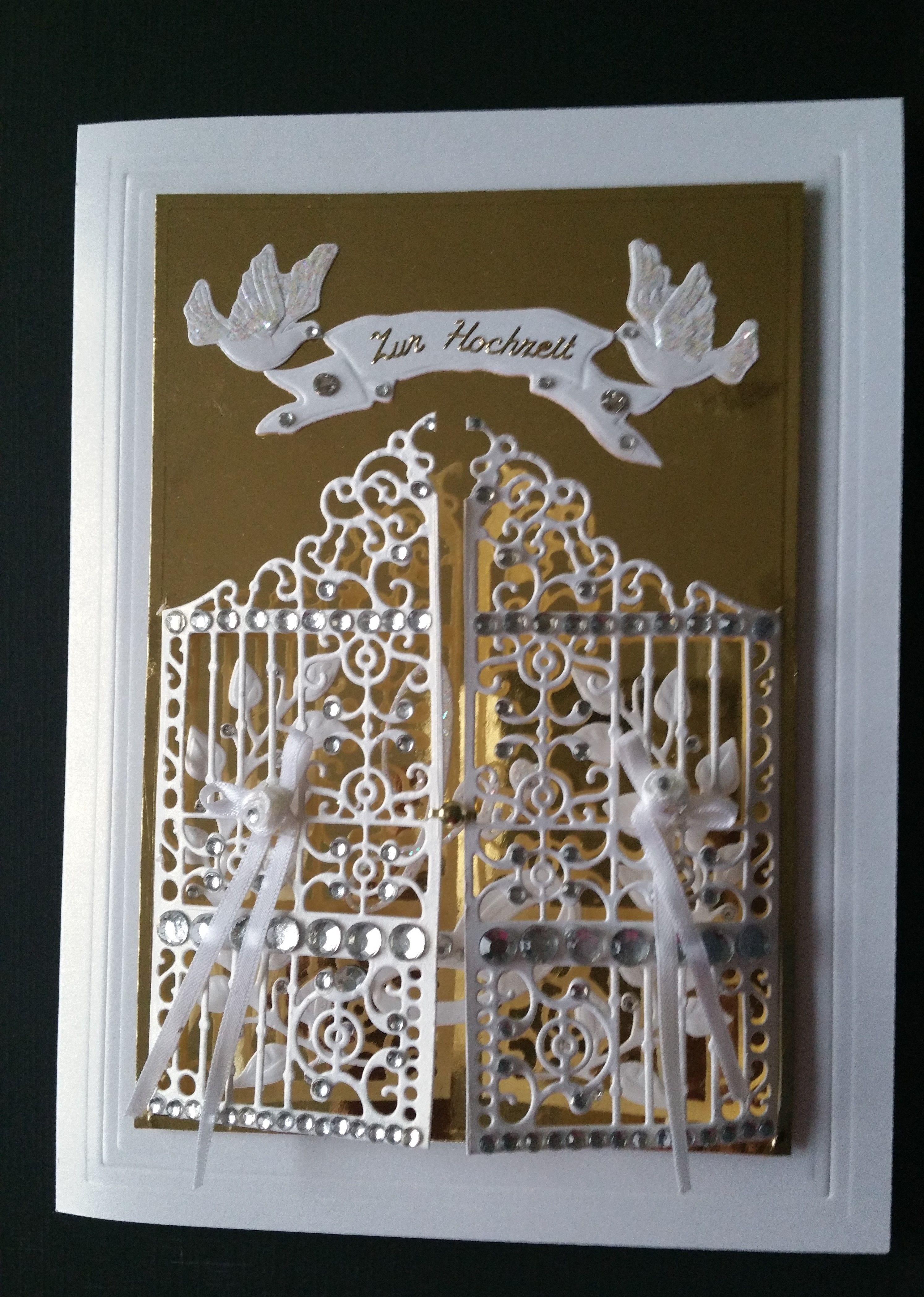 Stampin Up Hochzeitskarte Gate Thinlets Hochzeitskarten