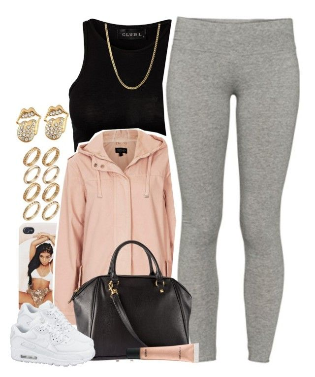 """Untitled #1464"" by lulu-foreva ❤ liked on Polyvore featuring Topshop, TNA, H&M, ASOS, MAC Cosmetics and NIKE"
