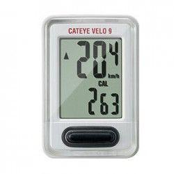 El #ciclocomputador #Cateye Velo 9 te calcula las calorías, la compensación de carbono y la velocidad a un precio muy competitivo en #deporvillage por 16.80€