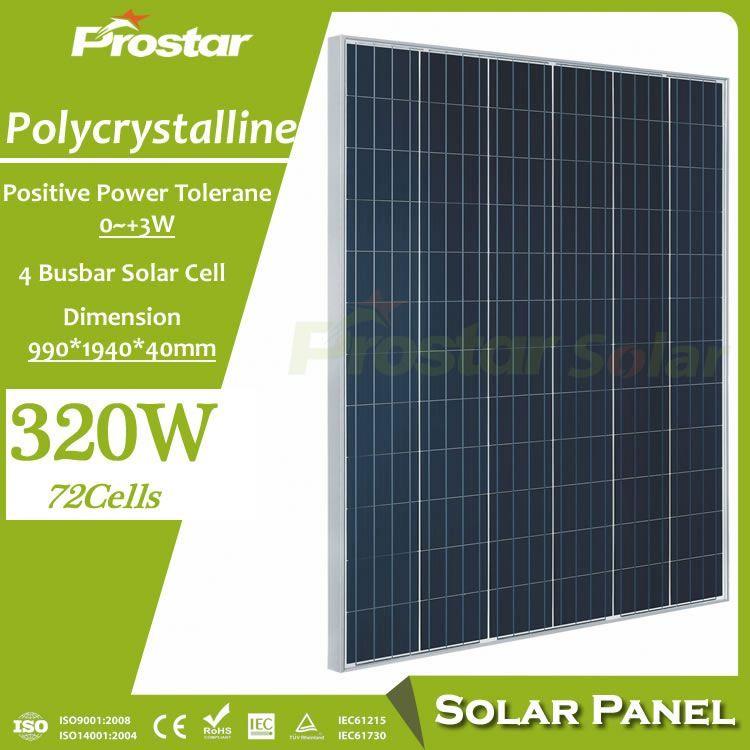 Prostar Polycrystalline Silicone 320w Solar Panel Wholesale China Solar Panels Solar Power Panels Best Solar Panels