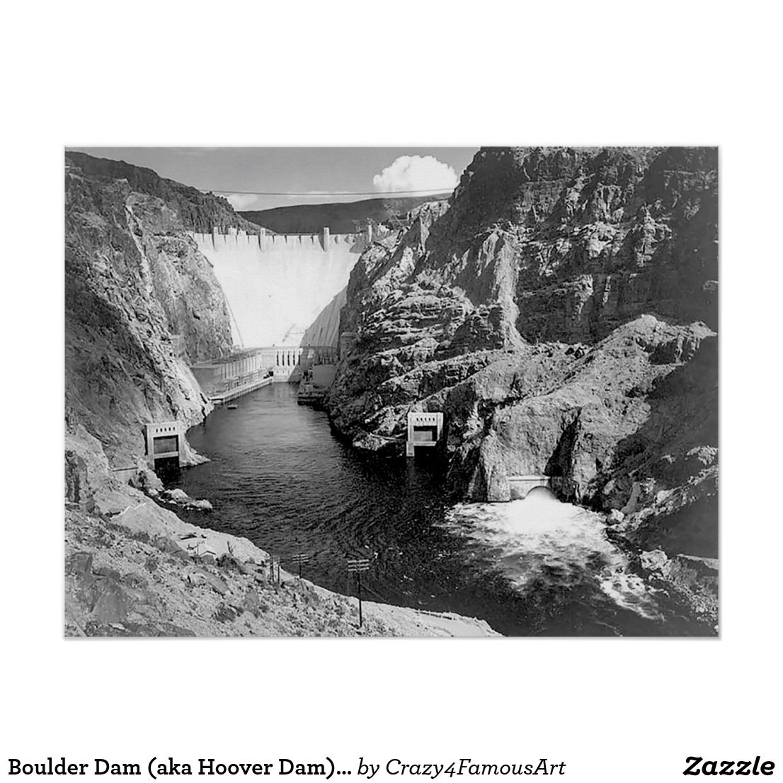 Boulder Dam (aka Hoover Dam) by Ansel Adams Poster | Top sellers on ...