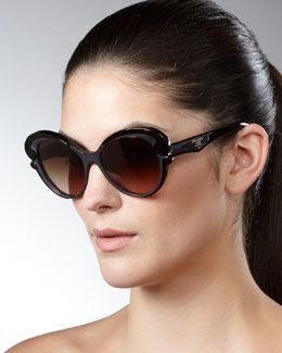 035f85ae55e16 D08C3 Prada Cat-Eye Sunglasses