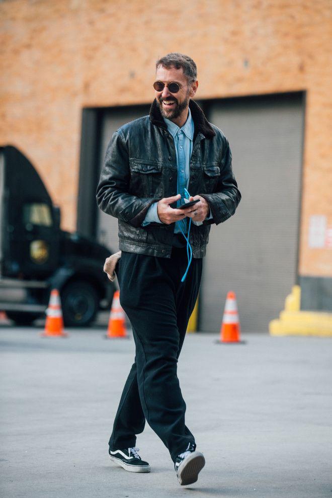 Street style à la Fashion Week homme automne,hiver 2017,2018 de New York