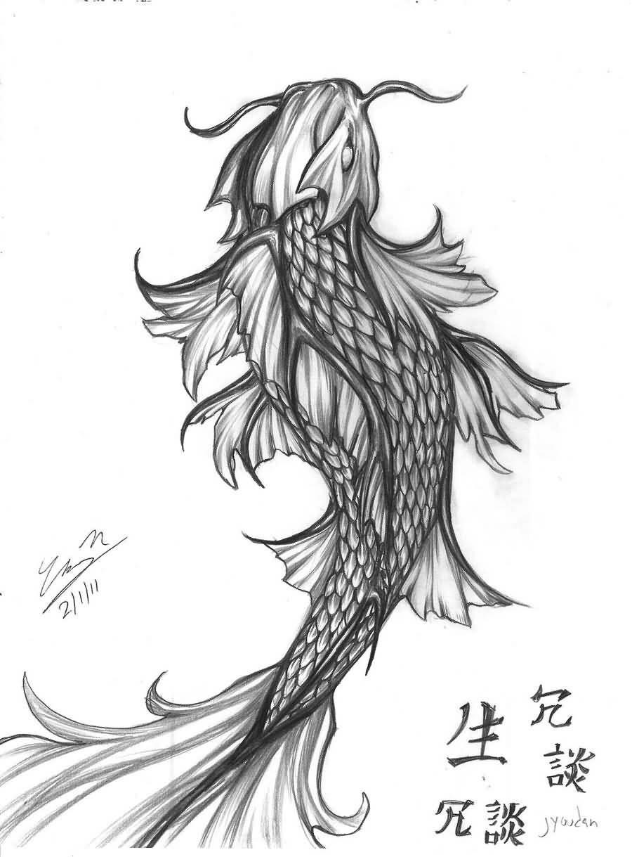 Japanese Koi Dragon Fish Tattoo Design | Pez koi | Pinterest ...