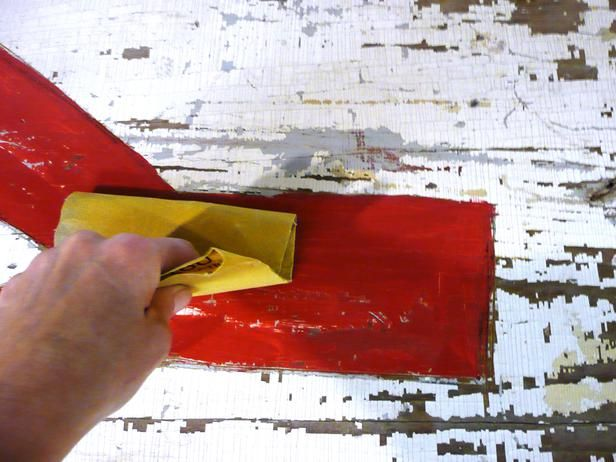 Learn How to Make a Hand-Painted Vintage Sign : Home Improvement : DIY Network