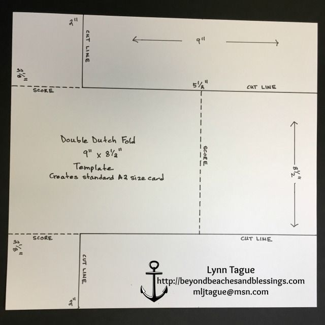 StampinUp Double Dutch Fold Card Template, designed by demo Lynn ...