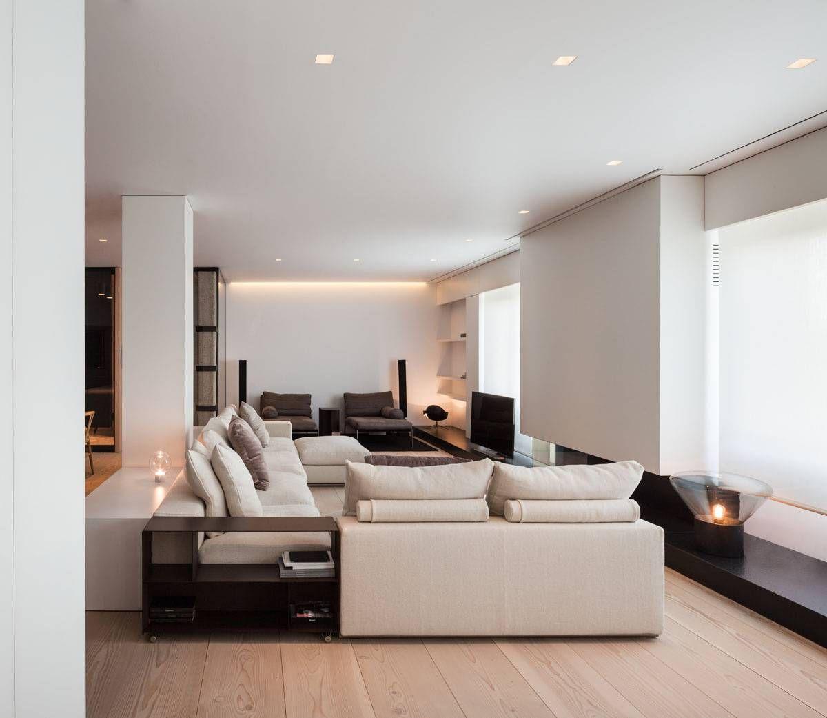 Arredamento Con Pavimento Marrone soggiorno contemporaneo moderno con arredi e mobili colore