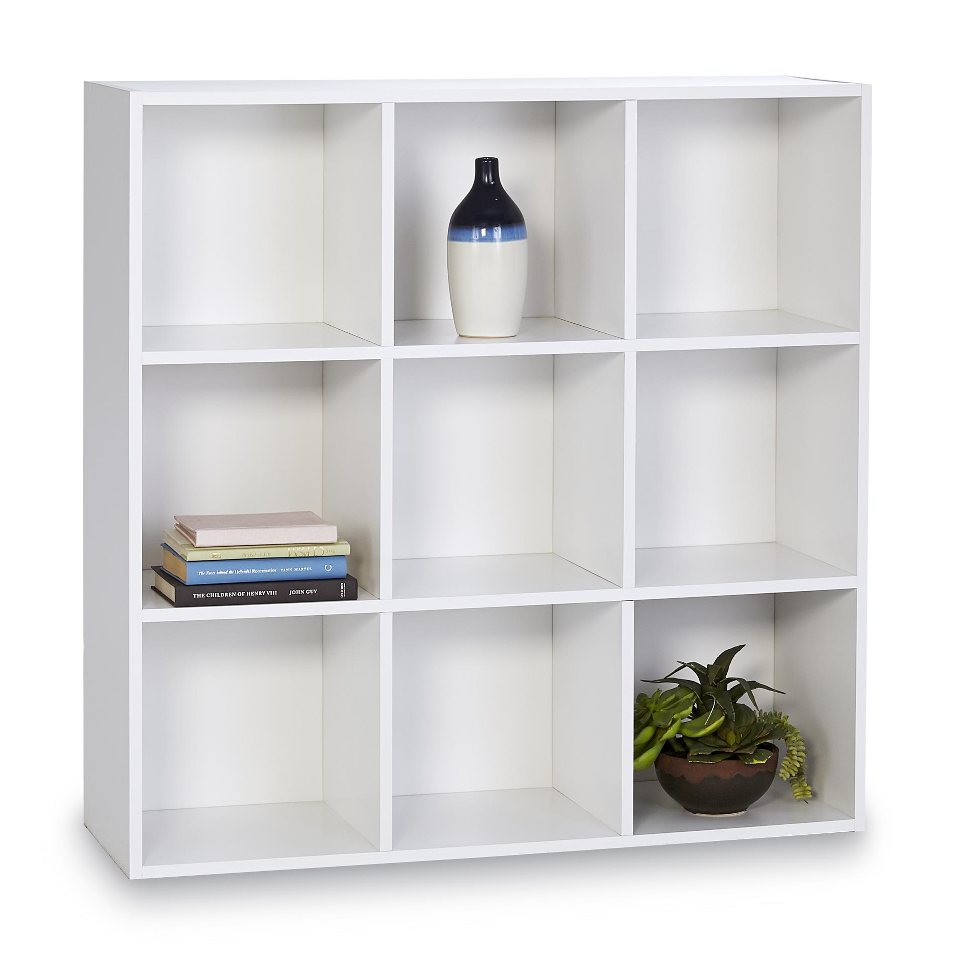 Essential Home 9 Cube Storage Unit Brown Cube Storage Unit Cube Storage Cube Storage Shelves