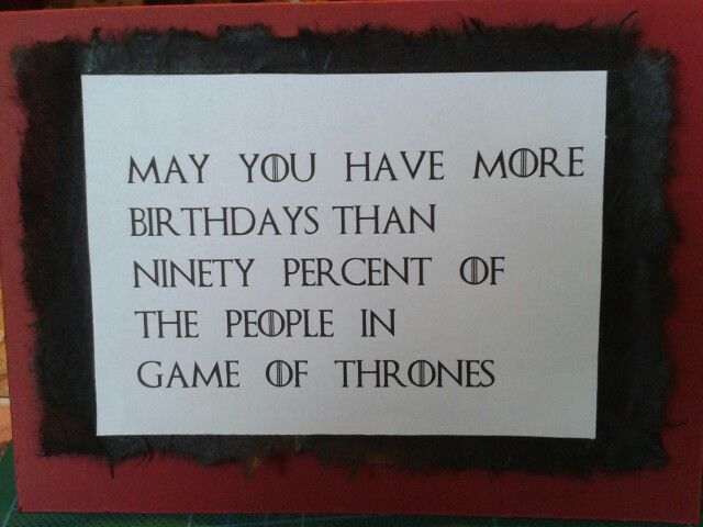 game of thrones birthday card diy pinterest cards