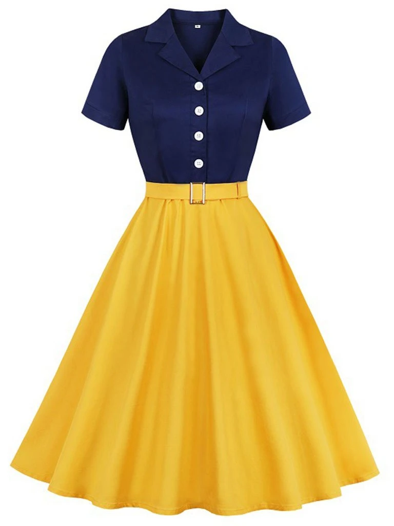 Snow White Style Inspired 50s Autumn Dress