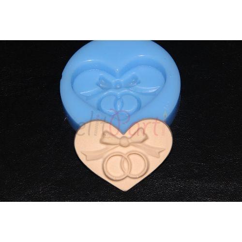Kalp Alyans Sabun ve Kokulu Taş Silikon Kalıbı - 14.99 ₺