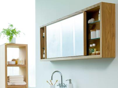 spiegelschrank mit beleuchtung holz, badmöbel aus holz | ökologisch & nachhaltig | grüne erde | bathroom, Innenarchitektur