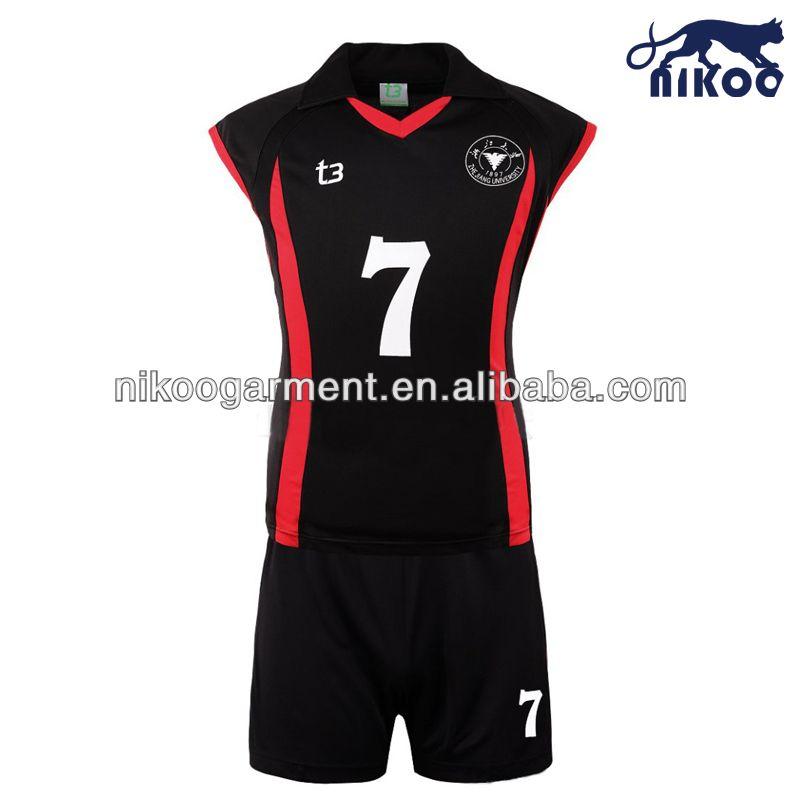 nikoo 2014 de nuevo diseño elástico sublimada uniforme de voleibol para las  mujeres 8f7f8ff5d57ce