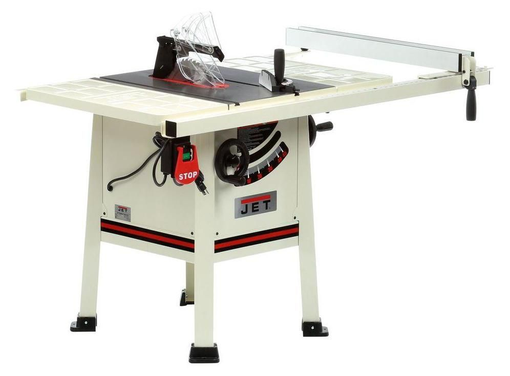 Jet Jps 10ts Review Proshop Table Saw Fit For The Hobbyist Kitchen Cabinets And Countertops Cabinet Table Saw Types Of Kitchen Cabinets