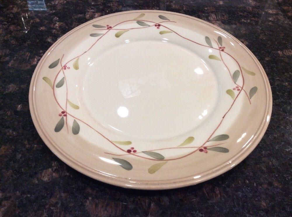 1) Crate \u0026 Barrel Salad Plates Olive 8-7/8\  & 1) Crate \u0026 Barrel Salad Plates Olive 8-7/8\