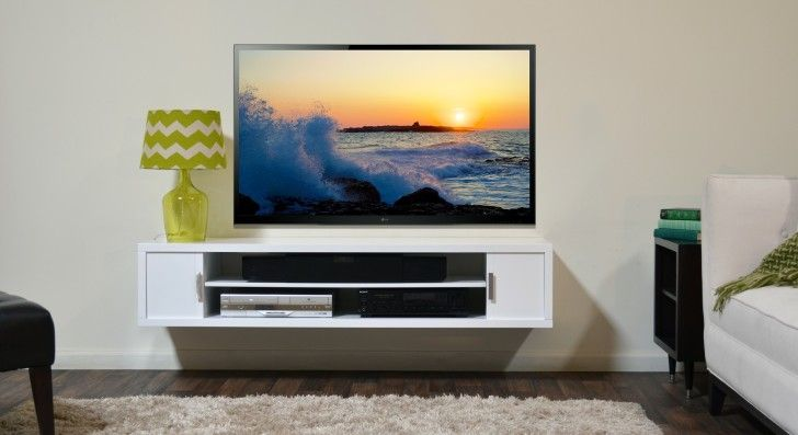 Captivating Tv Stand For Wall Mounted Tv Design Wall Mounted Tv