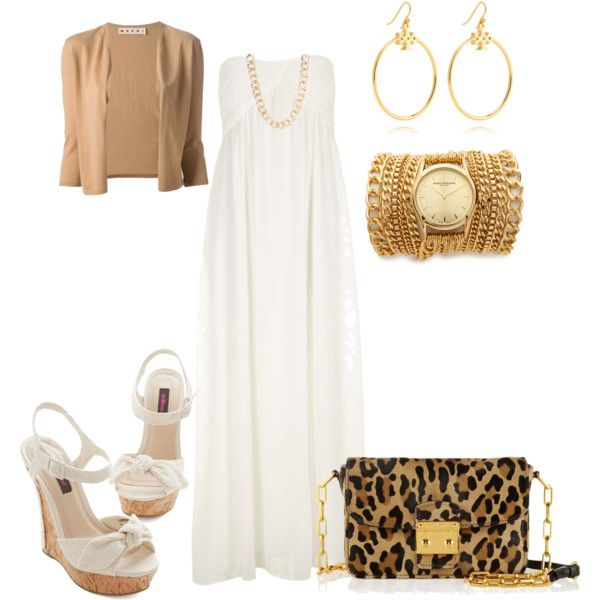 white n gold maxi dress by ifrahbatool on polyvore outfits