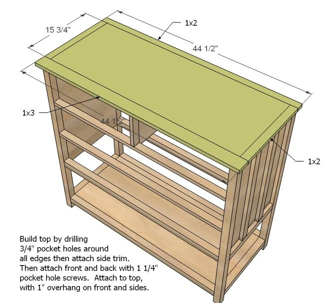 Small Dresser With Open Bottom Shelf Cabin Collection