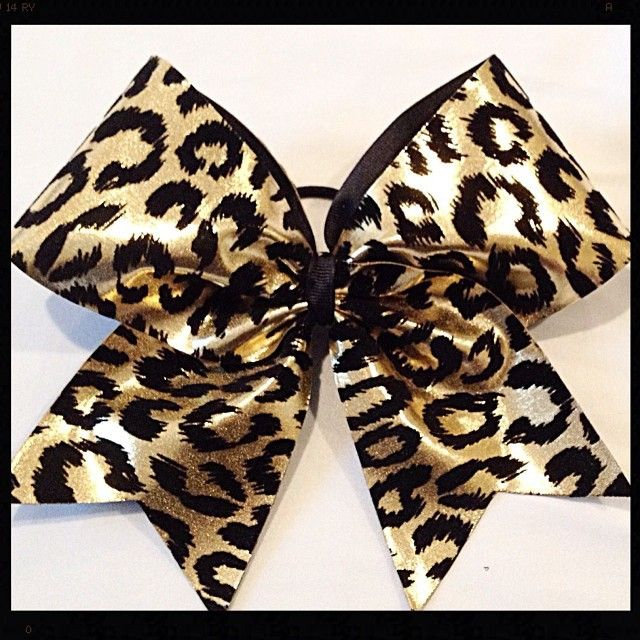 Cheer bow of the day. By  cheerbowfactory 16 months ago Metallic gold CHEETAH! $10 with free shipping at www.cheerbowfactory.com #cheer #cheerbow #cheercheetah #gold #metallic #goldcheetah Tag #cheerbow #cheerbow #cheerbows #beautiful #cheer #cheerleading #cheerleader #cheerleaders #allstarcheer #glitter #allstarcheerleading #cheerislife #bows #hairbow #hairbows #bling #hairaccessories #bigbows #bigbow #teambows #fabricbows #hairclips #sparkle