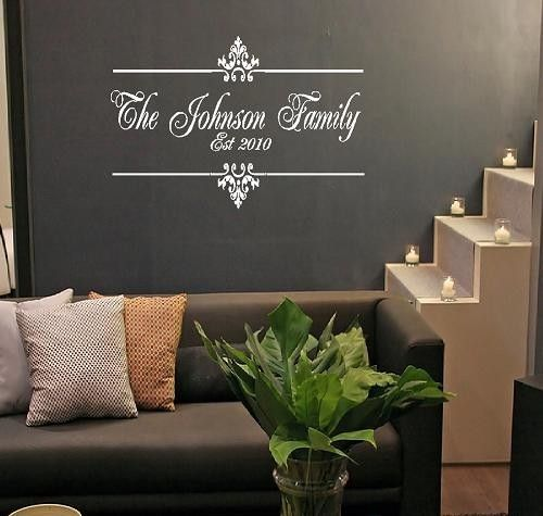 Family Name And Established Year Vinyl Wall Decal Personalized - Wall decals entryway