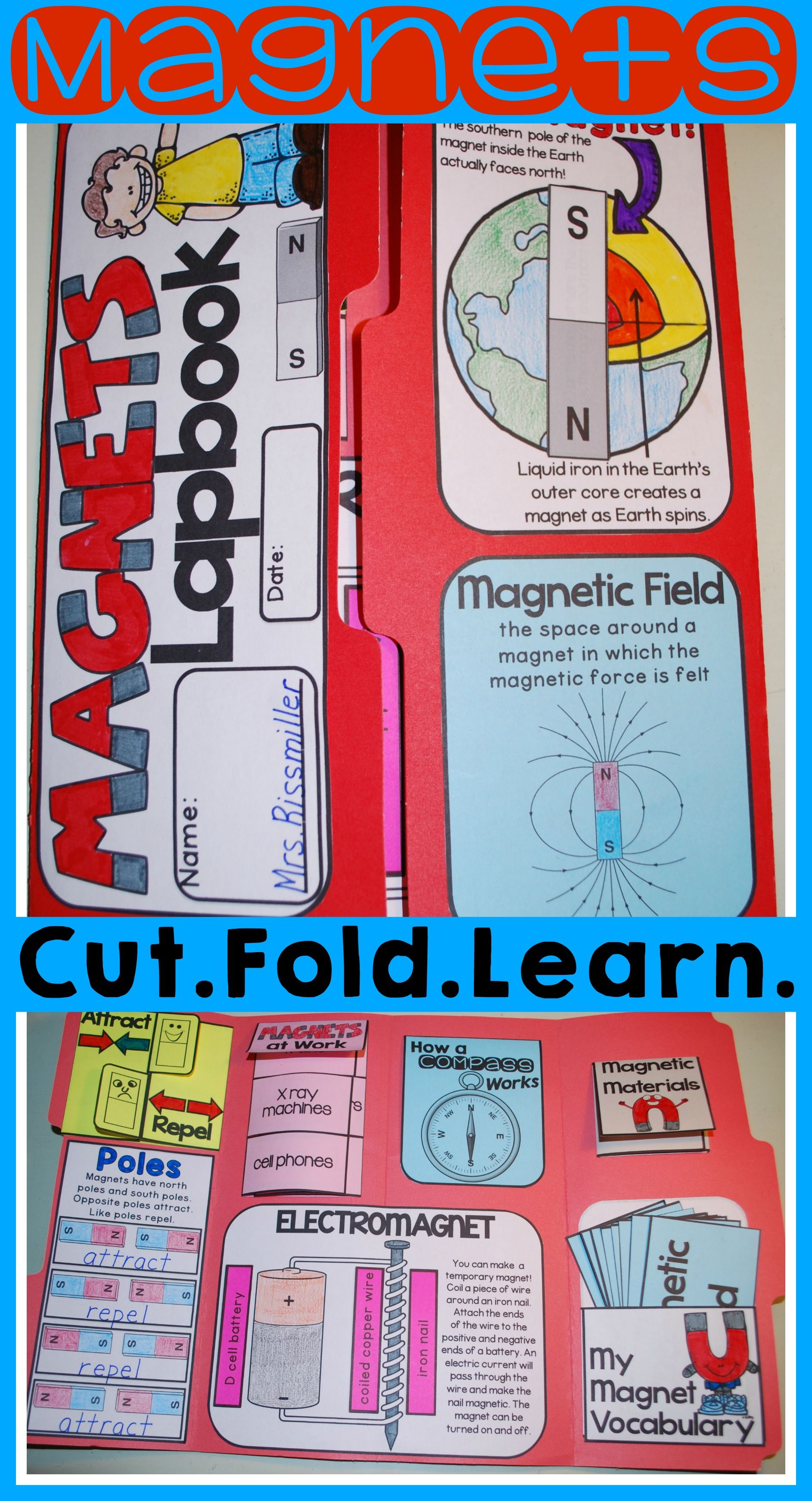 Magnets Lapbook Interactive Kit