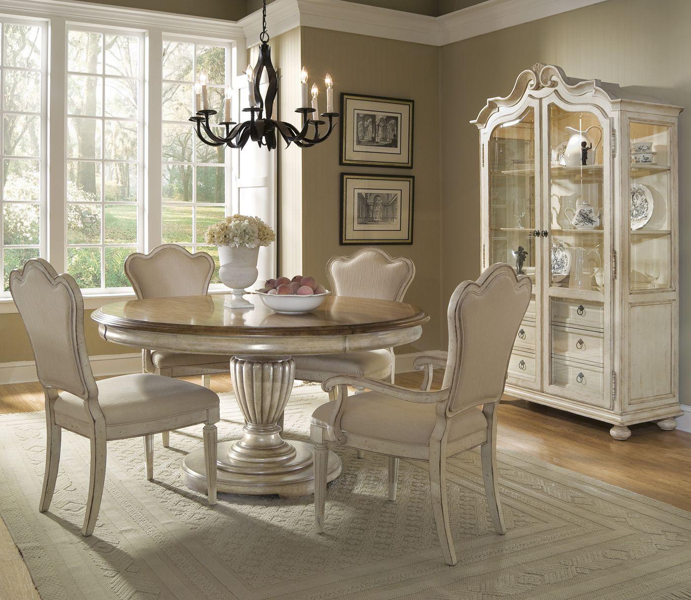Art home furniture provenance round dining set decor