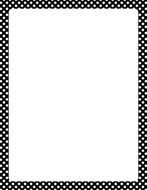 Printable black and white polka dot border. Free GIF, JPG ...