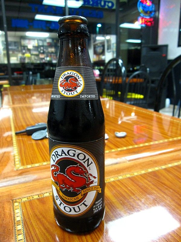 Dragon Stout from Jamaica, by the makers of Red Stripe