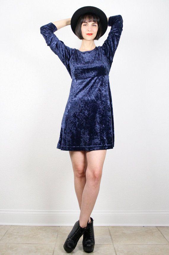 40dc2c72d5 Vintage 90s Dress Grunge Dress Crushed Velvet by ShopTwitchVintage ...