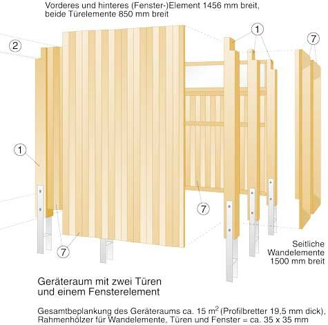 Bausatz-Carport: Zeichnung & Material   Gartenhaus & Carport   selbst.de