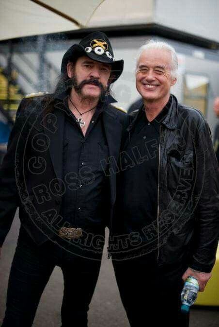 Lemmy and Jimmy Page