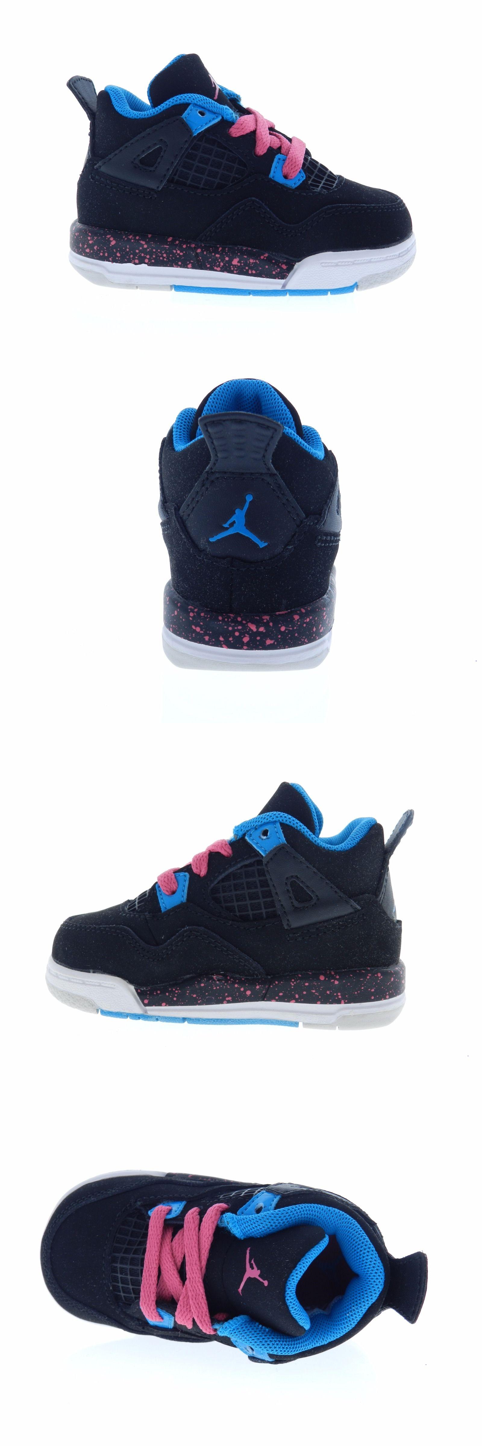 Infant Shoes Nike Toddler Air Jordan 4 Retro Size 4C Black Pink