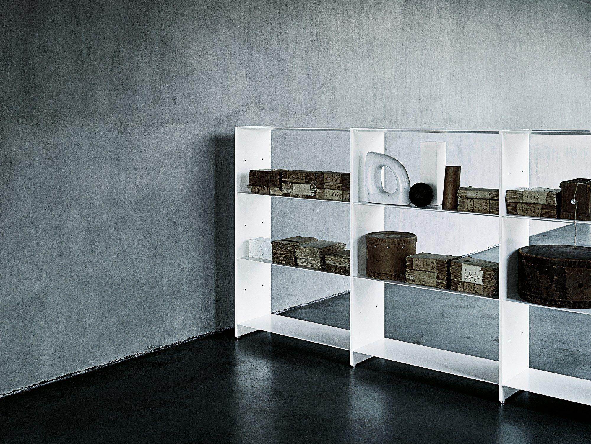 Scaffale componibile in alluminio estruso fill by desalto design