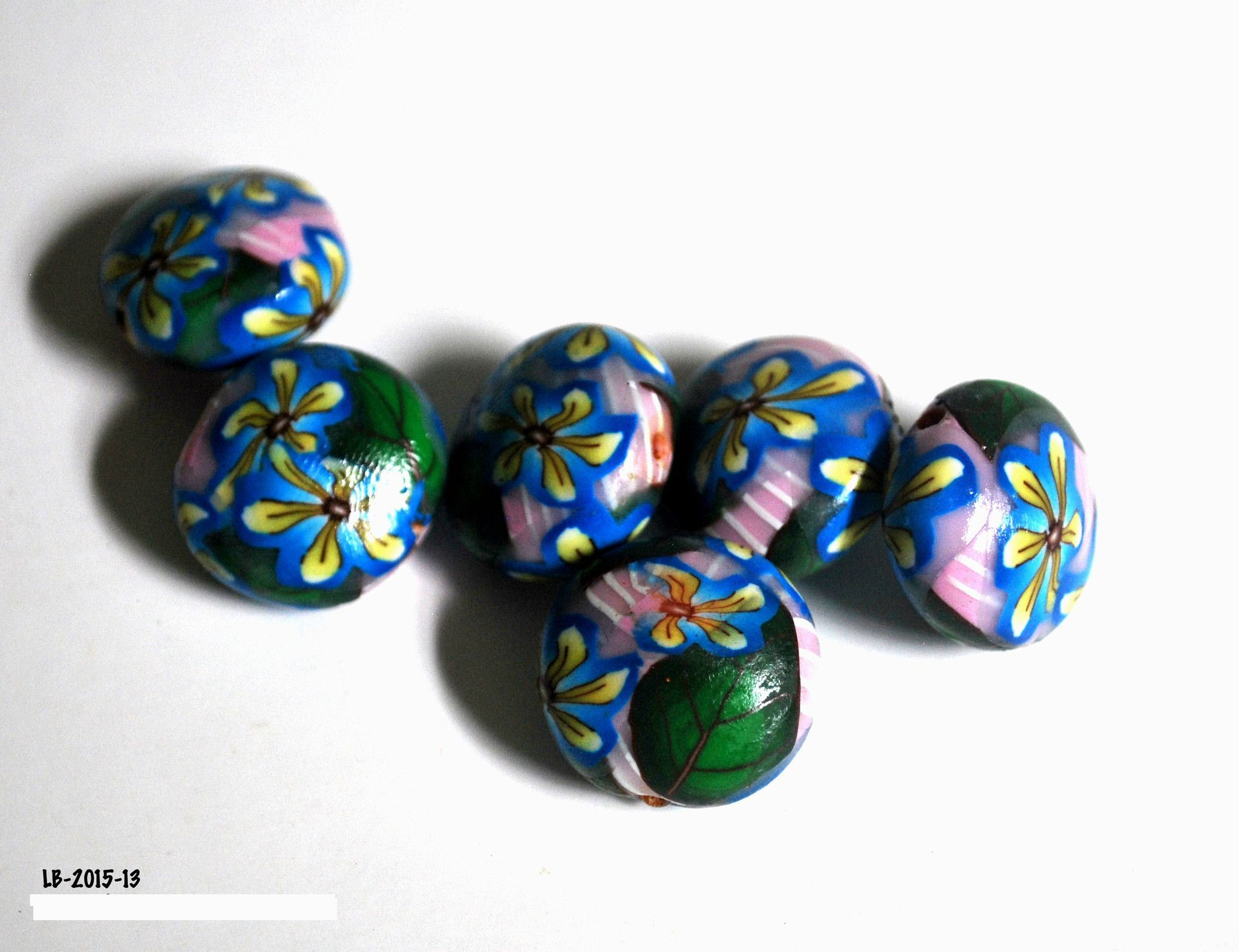 Handmade Polymer Clay #Beads , Polymer Clay Beads for Sale, Jewelry Making Supplies, Lentil Beads
